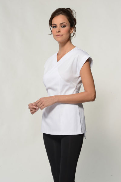 Bella - White Spa Uniform Top