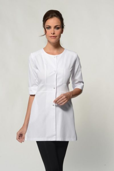 Jolie - White Spa Uniform Top